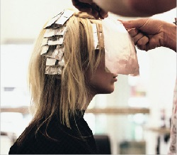 покраска слоями волос